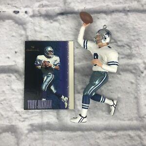 Hallmark Troy Aikman Dallas Cowboys Christmas Ornament Football NFL Trading Card