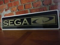 """SEGA CD aluminum sign 6"""" x 24"""""""