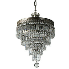 Antique Neoclassical Silver Plate Wedding Cake Chandelier, Nc3666