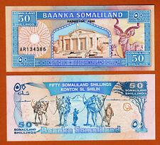 SOMALILAND 50 Shillings 1996 Pick-4b GEM UNC