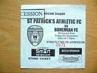 Tickets: Eircom League ST. PATRICK'S ATHLETIC v BOHEMIAN, 9 Sept 2005