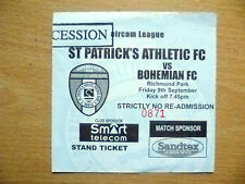 Tickets: Eircom League ST. PATRICK'S ATHLETIC v BOHEMIAN, 9 Sept 2005