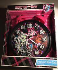 Monster High Glowlicious Alarm Clock  Jumbo Twin Bell Oversized  Quartz Accuracy