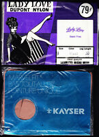 2 different pairs of VINTAGE NYLON STOCKINGS - SIZE 9 - 30, LADY LOVE & KAYSER