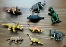 A Selection of Small Plastic Dinosaurs x9- USED
