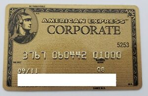 MEXICO - AMERICAN EXPRESS - EXPIRED CREDIT CARD - GOLD - CORPORATE