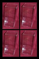 """Four 4"""" X 4 X 8"""" 0.55G Acrylic Container Display Case Fish Tank  for  Live Betta"""