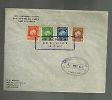1940 Asuncion Paraguay First Day Cover to USA