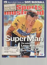 Lance Armstrong Signed AUTOGRAPH Complete SI Sports Illustrated Magazine PSA DNA