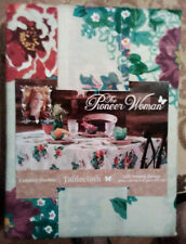 Pioneer Woman Tablecloth Country Garden Oblong 60 x 102  White Floral NEW