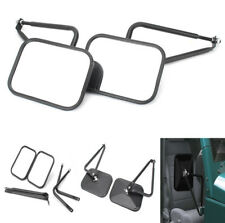 2x Car Door Black Hinge Side Mirrors For Jeep Wrangler JK CJ YJ TJ High  Quality (Fits: Jeep Wrangler 1999)