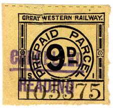 (I.B) Great Western Railway : Prepaid Parcel 9d (Reading)