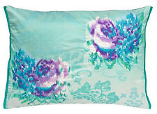 DESIGNERS GUILD FERGANA JADE BOLSTER  COVER 60X45CM BNWT  EMBROIDERED SATIN