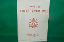 catalogue vente enchères VERSAILLES Tableaux modernes + liste prix de vente (24)