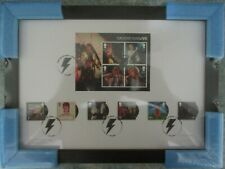 Framed David Bowie Live Limited Edition Stamps A4 First day of issue. 14/03/2017
