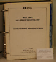 HP3497A Data Acquistion/Control Unit Operating Programming Configuration Manual