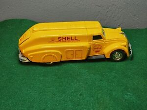 """1995 ERTL AMERICAN CLASSIC SHELL ADVERTISING DIE CAST COIN BANK 18233 9.5"""" LONG"""