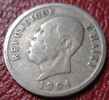 1904 HAITI 5 CENTIMES IN VG-FINE CONDITION