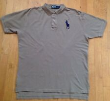 Polo Ralph Lauren Men's Tan Short Sleeve Collard Polo Shirt Size Large Big Horse