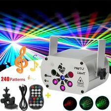 240 Pattern Laser Stage Lighting Rgb Led Usb Projector Light Party Disco Dj Lamp