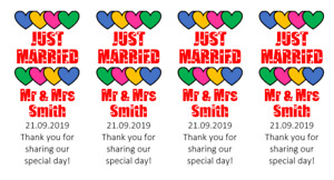 Personalised Mini Love Heart Sweet Wrappers Stickers Only Wedding Favours (S101)
