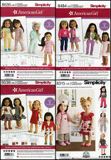 LOT of 4 American Girl 18 inch Doll Clothes Sewing Patterns by SIMPLICITY