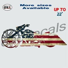 American bagger Decal Sticker motorcycle Car & Truck Window Decals harley bike
