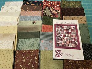MISS ROSIE'S COME ON-A MY HOUSE PATTERN + 30 FAT QUARTERS, PARTIAL QUILT KIT