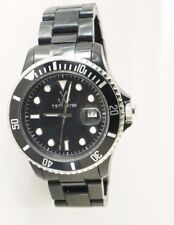 ToyWatch 32001BK Women's Black Plastic Submariner Style Watch Analog Dial