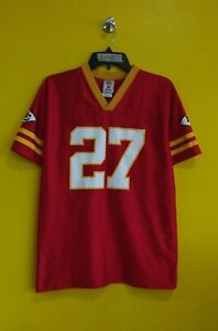 KANSAS CITY CHIEFS #27 LARRY JOHNSON NFL JERSEY BOYS - XL
