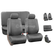 Complete Set Synthetic Leather Car Seat Covers for Auto Gray