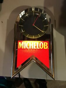 """1993 Michelob Beer lighted wall clock: Great condition 20""""H x 11""""W vintage"""