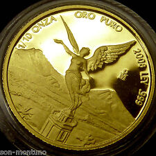 2008 Mexico - GOLD LIBERTAD PROOF 1/10 Troy Ounce Coin .999 Fine ONLY 500 MINTED