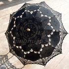Embroidery Lace Cotton Parasol wedding sun umbrella Photo Props Battenburg Brida