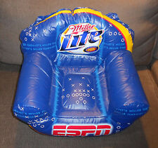 Miller Lite Beer ESPN Small Inflatable Chair Display Sign Man Cave