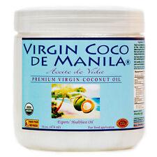 Organic 100% Virgin Coconut Oil ManilaCoco NoBlend 1 Extract CLEAN FRESH 16 oz
