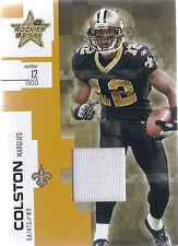 2007 Leaf Rookies & Stars Football  Marques Colston Saints Jersey Card