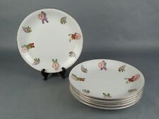 6 CATHAY China Asian Restaurant Ware Salad Plates  Decorative Flowers People