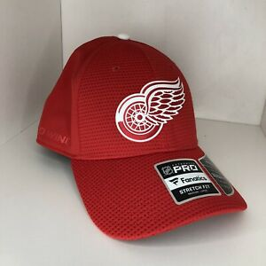 Red Wings Hat Hockey Cap Fanatics Authentic Pro Strech Fitted Red Mens Medium