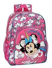 Disney MINNIE MOUSE UNICORNS Backpack Rucksack Pink School Bag 42cm OFFICIAL