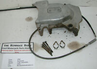ENGINE CLUTCH COVER left side with cable ----- 1981 KAWASAKI 650 CSR KZ650H
