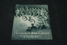 Age Print Handzettel Seidel and Naumann Bicycles Old Vintage Advertisement