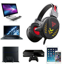 Cuffie Gaming per PS4 PS3 PC MAC USB Con CONTROLLO Volume Microfono Gamer