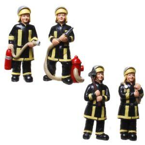 Funny Beruf - Figuren 4er Set Feuerwehrmann