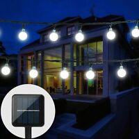 Solar Power 50/30LED String Light Garden Path Yard Decor Lamp Outdoor Waterproof