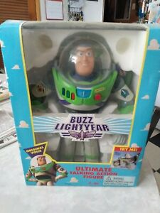 Pixar Buzz Lightyear Ultimate Toy Action Figure 1995 Original Box voice & laser