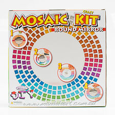 Mandala Art Mosaic Round Mirror Craft Kit For Adults & Older Children*Aust Brand