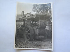 REAL PHOTO of BIG LIZZIE STEAM TRACTOR BRITAIN c1930s EXCELLENT Reg No PY6079