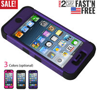 Shockproof Hybrid Hard&Soft Rugged Cover For Apple iPhone Case iPhone 5 5s