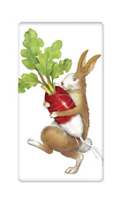 Flour Sack Towel Mary Lake Thompson Design -  Rabbit with Radish